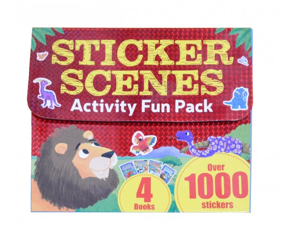 Sticker Scenes Activity Fun Pack with 4 Books and Over 1000 Stickers