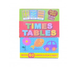 Tiny Tots Time Tables Flash Cards with 40 Large Cards