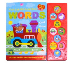 First Learning WORDS Tiny Tots Sound Board Book - Listen and Learn with 10 Animals Sounds