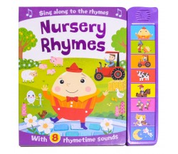 Sing Along to the Rhymes NURSERY RHYMES Sound Board Book - with 8 Rhymetime Sounds