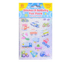 Sticker & Activity Fun Pack COOL STICKER SCENES - with Activity Book and over 80 Stickers