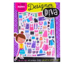 Designer Diva Puffy Sticker Activity Book