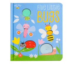 Busy Bees - Five Little Bugs Board Book with 5 silicone shapes