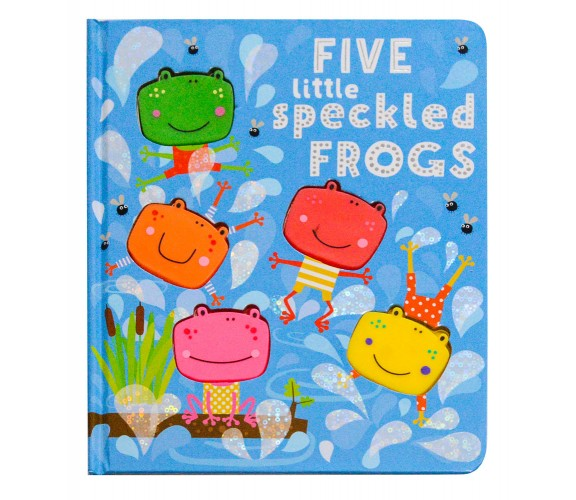 Five Little Speckled Frogs Board Book with 5 silicone shapes