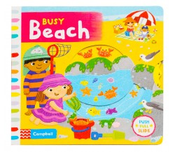 Campbell - Busy Beach - Push, Pull, Slide Book