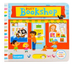 Campbell - Busy Bookshop - Push, Pull, Slide Book