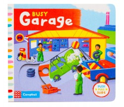 Campbell - Busy Garage - Push, Pull, Slide Book