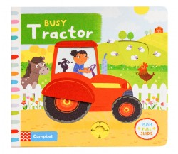 Campbell - Busy Tractor - Push, Pull, Slide Book