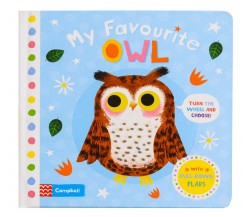 Campbell - My Favourite Owl Board Book - Turn the Wheel and Pull-Down Flaps
