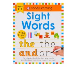 Sight Words Wipe Clean Workbook with Pen