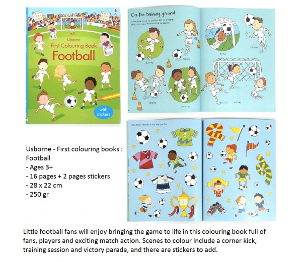 Football first colouring book