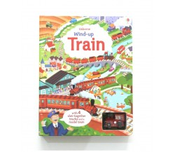 Usborne - Wind-up train book with slot-together tracks