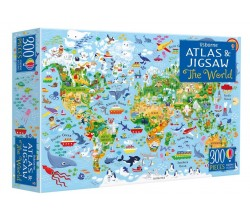 Usborne - The world jigsaw and atlas