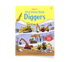 Usborne - Diggers sticker book