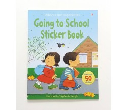 Usborne - First experiences sticker books - Going to school