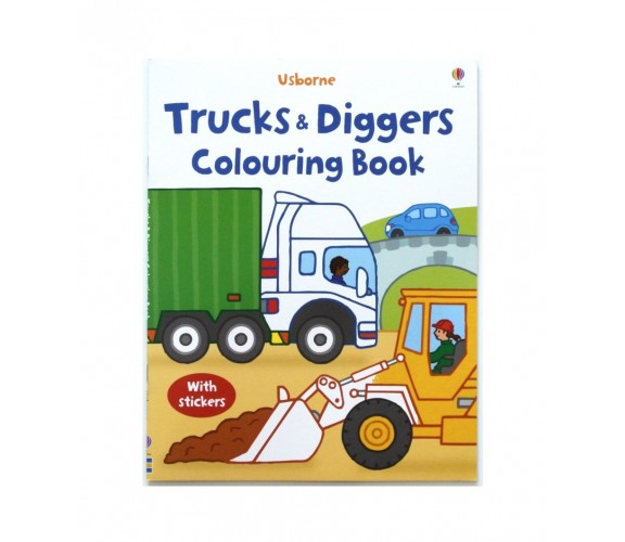 Usborne - Trucks and diggers colouring book