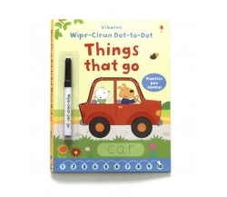Usborne - Wipe-clean dot-to-dot things that go