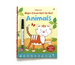 Usborne - Wipe-clean dot-to-dot animals