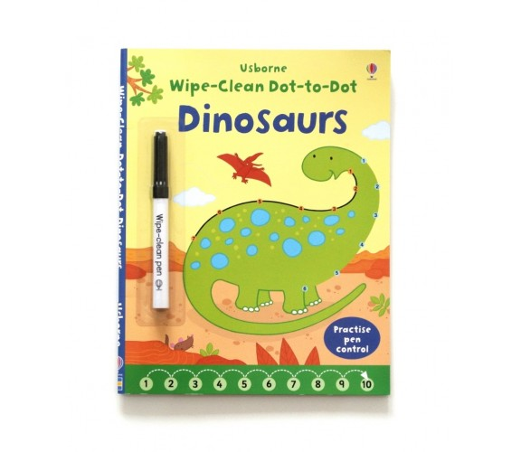 Usborne - Wipe-clean dot-to-dot dinosaurs