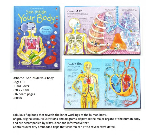 See inside your body jakarta indonesia buku impor import anak usborne usborne see inside your body ccuart Gallery