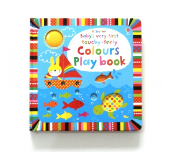 Usborne - Baby's very first touchy-feely colours play book