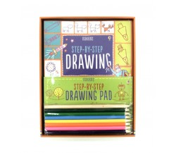 Usborne - Step-by-step drawing kit